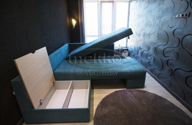 Кутовий диван з поворотним механізмом (Mercury) Меркурій ф-ка Мекко (Ортопедичний) - 3000*2150мм  Білогірськ-7